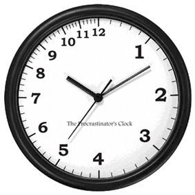 Procrastination-clock
